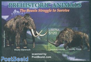Preh. animals s/s, Woolly Rhino