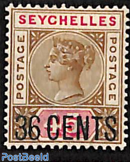36 CENTS, Stamp out of set