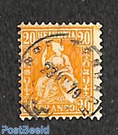 20c Orange, Stamp out of set