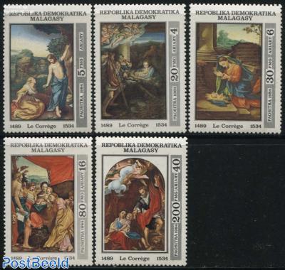 Corregio paintings 5v
