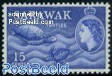 Sarawak, 15c, Stamp out of set