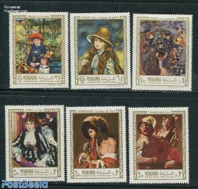 Renoir & Terbrugghen paintings 6v