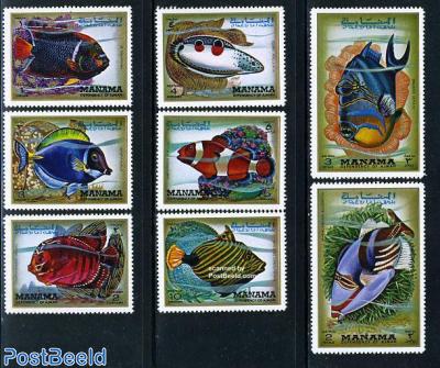 Tropical fish 8v