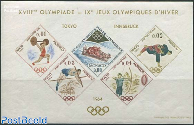 Olympic Games, Special sheet