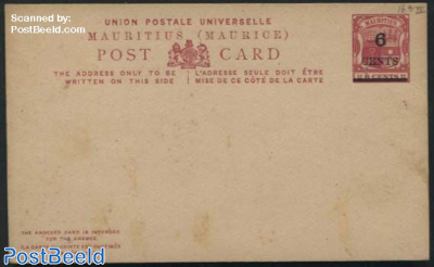Postcard 6 CENTS on 8c