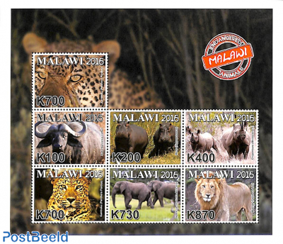 Endangered animals 7v m/s