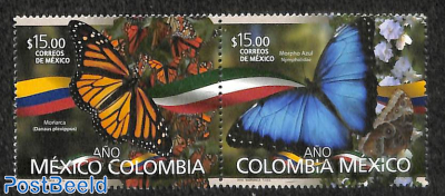 Butterflies, joint issue Colombia 2v [:]