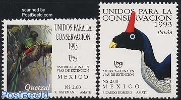 UPAEP, birds 2v