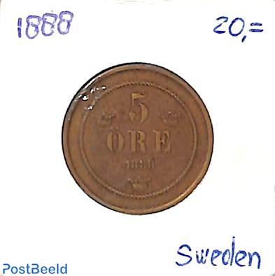 5 öre 1888