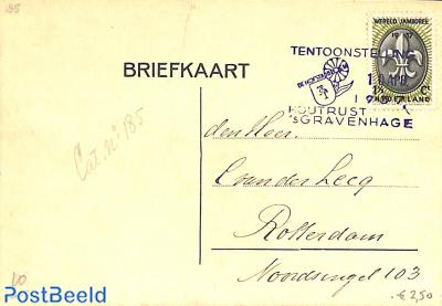 Card with special postmark: De Hofstadbloem, Houtrust
