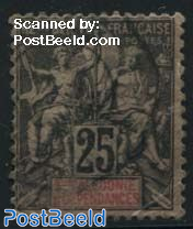 25c, Stamp out of set