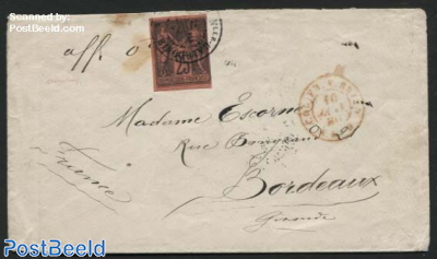 Letter from New Caledonia to Bordeaux