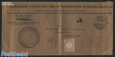On Service, Postage due 5c Letter