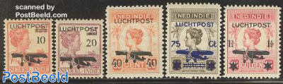 Airmail overprints 5v