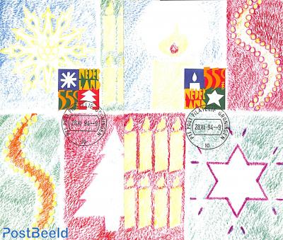 Christmas 2v, max. cards NM set