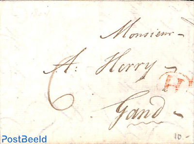 folding letter from Amsterdam to Gent