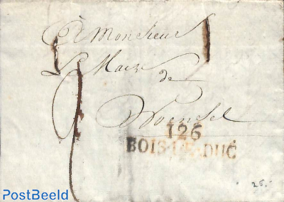 Folding letter to Woensel