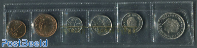 Official Yearset Netherlands 1975 (1-5-10-25CT + 1Gld+25ct 1974)