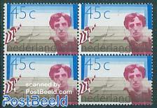 Eduard Verkade 1v block of 4 [+]