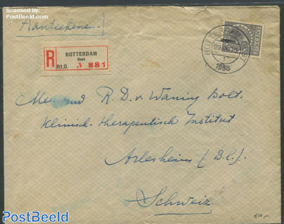 Registered cover from Rotterdam with nvhp no.193