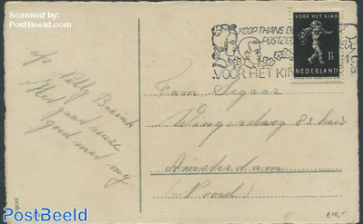 Christmas card to Amsterdam with nvhp no. 327
