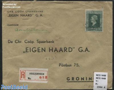 Registered cover to Groningen
