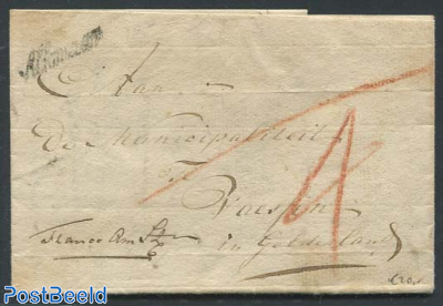 Folding letter from Alkmaar to Gelderland
