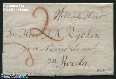 Letter from Dordrecht to Breda
