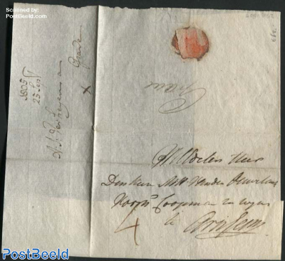 Letter from Grave to Arnhem, 25 Sep 1805
