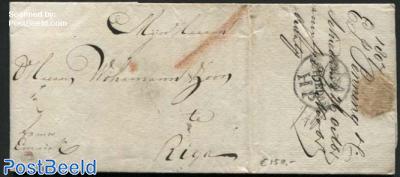 Letter from Schiedam to Riga (postmark: Schiedam HP)