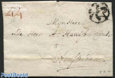 Letter from Leiden to Amsterdam
