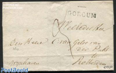 Letter from Gorinchem (Gorcum) to Rotterdam