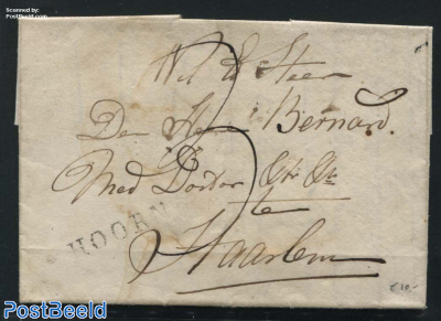 Folding letter from Hoorn to Haarlem