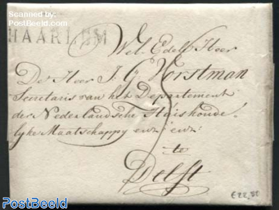 Letter from Haarlem to Delft