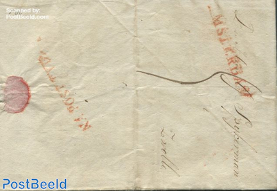 Folding letter from Amsterdam to Zwolle