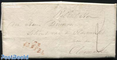 Letter from Zwolle via Meppel to Oldemarkt