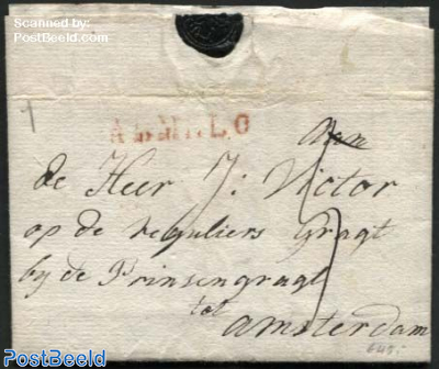 Letter from Almelo to Amsterdam