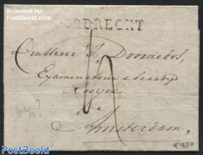 Folding letter from Dordrecht to Amsterdam