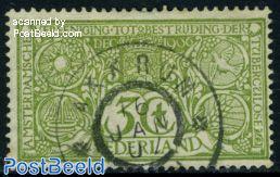 3+3c green, Grootrond Akkrum