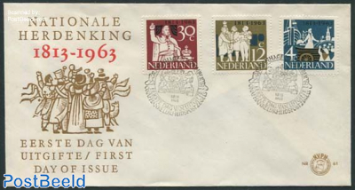 150 years independence 3v FDC without address