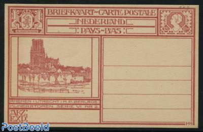 Postcard 12.5c, Rhenen, Kuneratoren