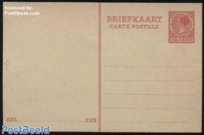 Postcard 10c red