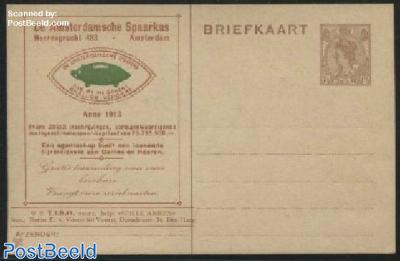 Postcard with private text, TIBO, De Amsterdamsche Spaarkas