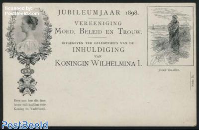 Postcard 2.5c, Jozef Israels