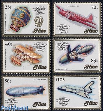 Aviation bicentenary 6v