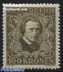 100Kr, Perf. 11.5, Stamp out of set