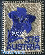 Flower, textile stamp 1v