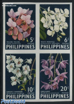 Orchids 4v imperforated [+]