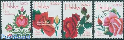 Roses 4v, fragrant stamps