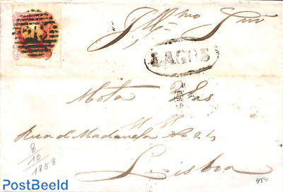 Letter from Lagos via Faro to Lisboa